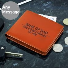 Personalised Classic Tan Leather Wallet P1014A13